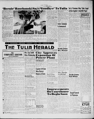 Primary view of object titled 'The Tulia Herald (Tulia, Tex), Vol. 54, No. 24, Ed. 1, Thursday, June 14, 1962'.