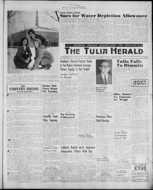 Primary view of object titled 'The Tulia Herald (Tulia, Tex), Vol. 52, No. 8, Ed. 1, Thursday, February 23, 1961'.