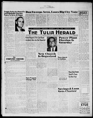Primary view of object titled 'The Tulia Herald (Tulia, Tex), Vol. 54, No. 23, Ed. 1, Thursday, June 7, 1962'.
