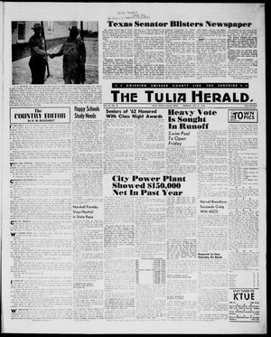 Primary view of object titled 'The Tulia Herald (Tulia, Tex), Vol. 54, No. 22, Ed. 1, Thursday, May 31, 1962'.