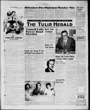 Primary view of object titled 'The Tulia Herald (Tulia, Tex), Vol. 54, No. 21, Ed. 1, Thursday, May 24, 1962'.