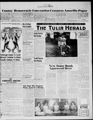 Primary view of object titled 'The Tulia Herald (Tulia, Tex), Vol. 54, No. 20, Ed. 1, Thursday, May 17, 1962'.