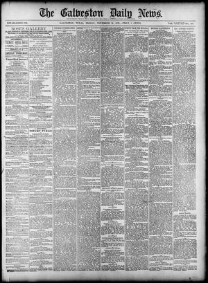 Primary view of The Galveston Daily News. (Galveston, Tex.), Vol. 38, No. 209, Ed. 1 Friday, November 21, 1879