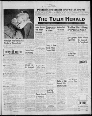 Primary view of object titled 'The Tulia Herald (Tulia, Tex), Vol. 52, No. 2, Ed. 1, Thursday, January 12, 1961'.
