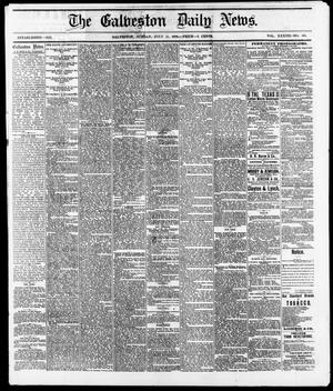 Primary view of object titled 'The Galveston Daily News. (Galveston, Tex.), Vol. 37, No. 103, Ed. 1 Sunday, July 21, 1878'.