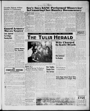 Primary view of object titled 'The Tulia Herald (Tulia, Tex), Vol. 54, No. 16, Ed. 1, Thursday, April 19, 1962'.