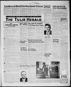 Primary view of object titled 'The Tulia Herald (Tulia, Tex), Vol. 54, No. 15, Ed. 1, Thursday, April 12, 1962'.