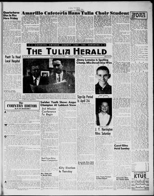 Primary view of object titled 'The Tulia Herald (Tulia, Tex), Vol. 54, No. 13, Ed. 1, Thursday, March 29, 1962'.