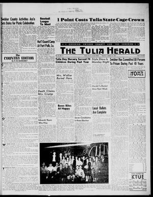 Primary view of object titled 'The Tulia Herald (Tulia, Tex), Vol. 54, No. 11, Ed. 1, Thursday, March 15, 1962'.