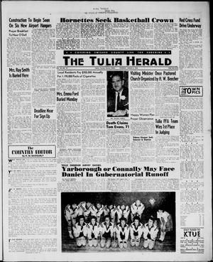 Primary view of object titled 'The Tulia Herald (Tulia, Tex), Vol. 54, No. 10, Ed. 1, Thursday, March 8, 1962'.