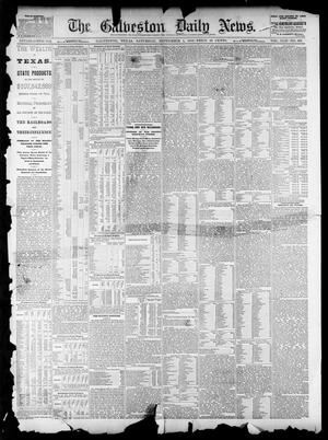 Primary view of object titled 'The Galveston Daily News. (Galveston, Tex.), Vol. 42, No. 163, Ed. 1 Saturday, September 1, 1883'.