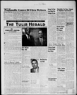 Primary view of object titled 'The Tulia Herald (Tulia, Tex), Vol. 54, No. 9, Ed. 1, Thursday, March 1, 1962'.