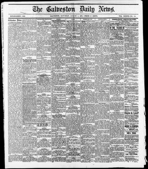 Primary view of object titled 'The Galveston Daily News. (Galveston, Tex.), Vol. 37, No. 114, Ed. 1 Saturday, August 3, 1878'.