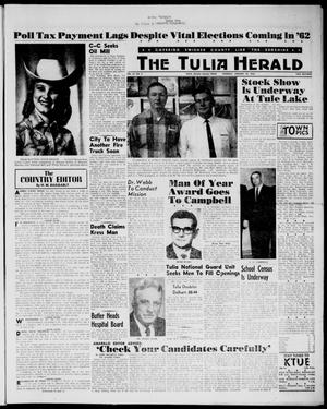 Primary view of object titled 'The Tulia Herald (Tulia, Tex), Vol. 54, No. 3, Ed. 1, Thursday, January 18, 1962'.