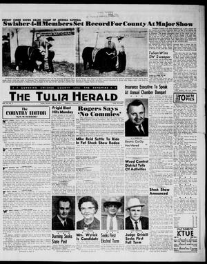 Primary view of object titled 'The Tulia Herald (Tulia, Tex), Vol. 54, No. 2, Ed. 1, Thursday, January 11, 1962'.