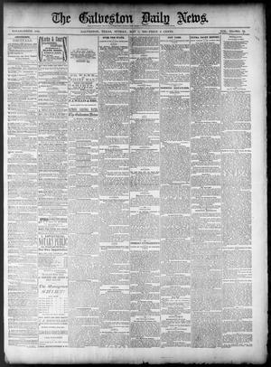Primary view of object titled 'The Galveston Daily News. (Galveston, Tex.), Vol. 40, No. 34, Ed. 1 Sunday, May 1, 1881'.