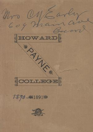 Catalogue of Howard Payne College, 1891