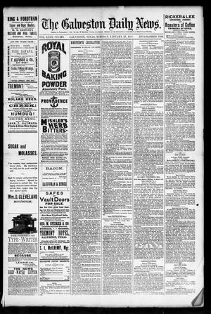 Primary view of object titled 'The Galveston Daily News. (Galveston, Tex.), Vol. 43, No. 279, Ed. 1 Tuesday, January 27, 1885'.