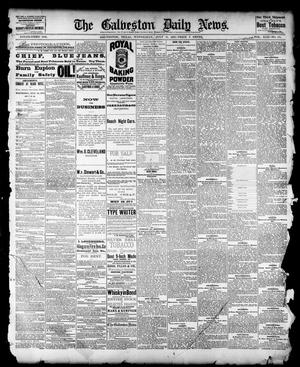 Primary view of object titled 'The Galveston Daily News. (Galveston, Tex.), Vol. 42, No. 118, Ed. 1 Wednesday, July 18, 1883'.