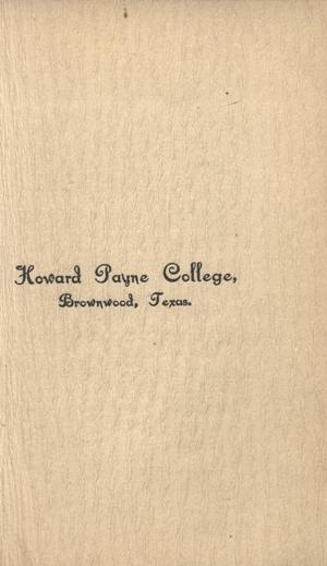 Primary view of object titled 'Catalogue of Howard Payne College, 1901-1902'.