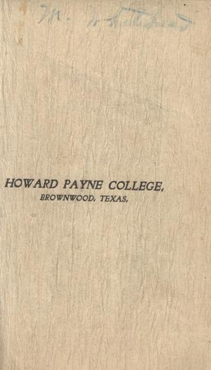 Primary view of object titled 'Catalogue of Howard Payne College, 1900-1901'.