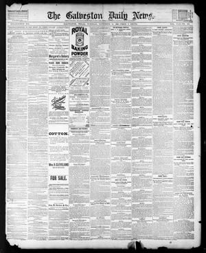 Primary view of object titled 'The Galveston Daily News. (Galveston, Tex.), Vol. 42, No. 236, Ed. 1 Tuesday, November 13, 1883'.