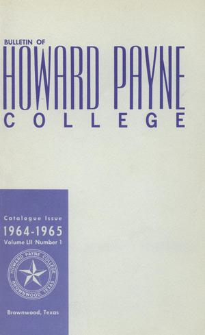 Catalogue of Howard Payne College, 1963-1964