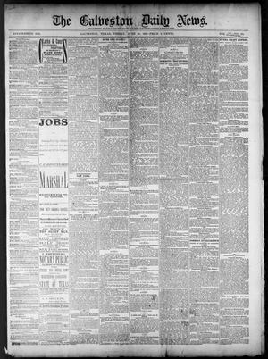 Primary view of object titled 'The Galveston Daily News. (Galveston, Tex.), Vol. 40, No. 68, Ed. 1 Friday, June 10, 1881'.