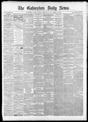 Primary view of object titled 'The Galveston Daily News. (Galveston, Tex.), Vol. 38, No. 283, Ed. 1 Sunday, February 15, 1880'.