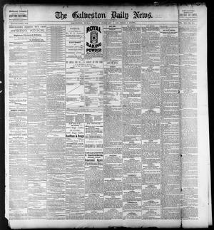 Primary view of object titled 'The Galveston Daily News. (Galveston, Tex.), Vol. 41, No. 274, Ed. 1 Sunday, February 4, 1883'.
