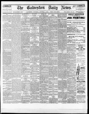 Primary view of object titled 'The Galveston Daily News. (Galveston, Tex.), Vol. 34, No. 227, Ed. 1 Saturday, October 2, 1875'.