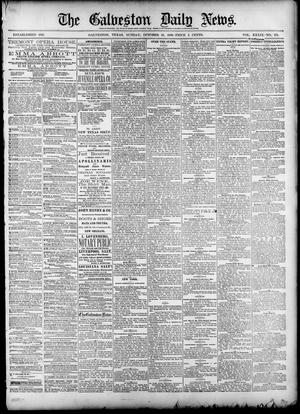 Primary view of object titled 'The Galveston Daily News. (Galveston, Tex.), Vol. 39, No. 173, Ed. 1 Sunday, October 10, 1880'.