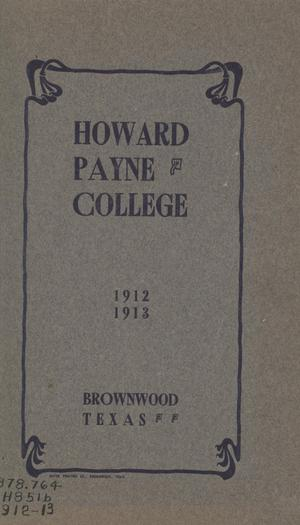 Catalogue of Howard Payne College, 1912-1913 [A]