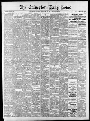 Primary view of object titled 'The Galveston Daily News. (Galveston, Tex.), Vol. 37, No. 277, Ed. 1 Sunday, February 9, 1879'.