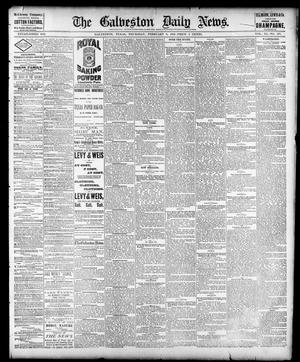Primary view of object titled 'The Galveston Daily News. (Galveston, Tex.), Vol. 40, No. 277, Ed. 1 Thursday, February 9, 1882'.