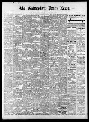 Primary view of object titled 'The Galveston Daily News. (Galveston, Tex.), Vol. 38, No. 24, Ed. 1 Sunday, April 20, 1879'.