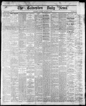 Primary view of object titled 'The Galveston Daily News. (Galveston, Tex.), Vol. 34, No. 17, Ed. 1 Sunday, January 25, 1874'.