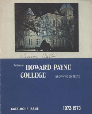 Catalogue of Howard Payne College, 1971-1972