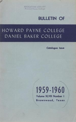 Catalog of Howard Payne College, 1958-1959
