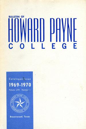 Primary view of object titled 'Catalogue of Howard Payne College, [1969-1970]'.