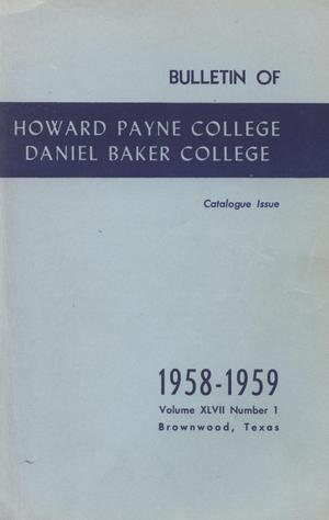 Primary view of object titled 'Catalog of Howard Payne College, 1957-1958'.
