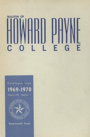 Primary view of object titled 'Catalogue of Howard Payne College, 1968-1969'.