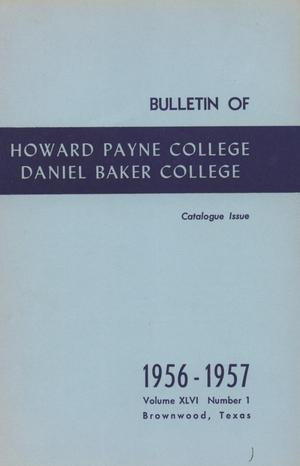 Primary view of object titled 'Catalog of Howard Payne College, 1956-1957'.