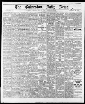 Primary view of object titled 'The Galveston Daily News. (Galveston, Tex.), Vol. 35, No. 169, Ed. 1 Saturday, July 24, 1875'.