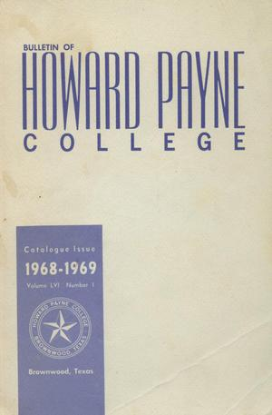 Primary view of object titled 'Catalogue of Howard Payne College, 1967-1968'.
