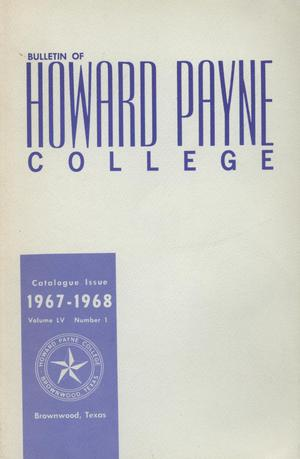 Primary view of object titled 'Catalogue of Howard Payne College, 1966-1967'.