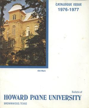 Primary view of object titled 'Catalogue of Howard Payne University, 1976-1977'.