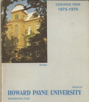 Primary view of object titled 'Catalogue of Howard Payne University, 1975-1976'.