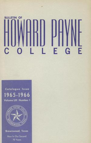 Primary view of object titled 'Catalogue of Howard Payne College, 1964-1965'.