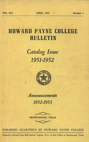 Catalogue of Howard Payne College, 1951-1952